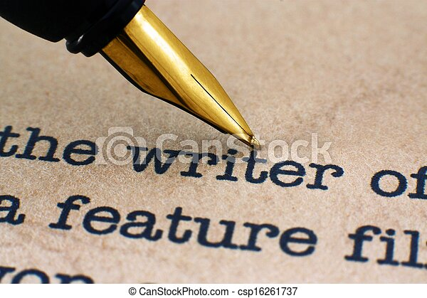 Fountain pen on writer - csp16261737