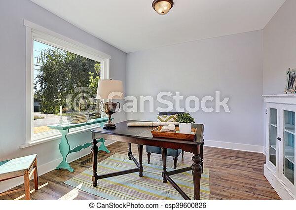Houten Bureau Kantoor : Stijl oud kantoor houten ouderwetse bureau interior. thuis