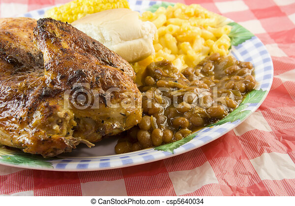 stijl, picknick, chicken, bbq - csp5640034