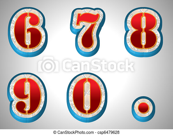 stil, alphabet, groß, schriftart, rotes , 3d - csp6479628