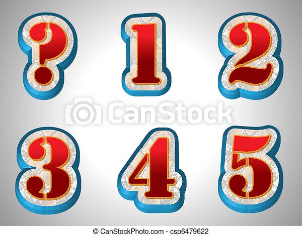stil, alphabet, groß, schriftart, rotes , 3d - csp6479622