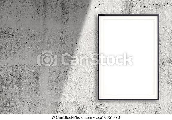 stil, begrepp, väggen inramar, nymodig, komposition, tom - csp16051770