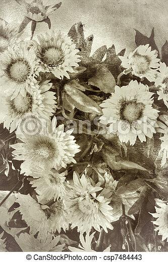 stil, blomningen, retro, bakgrund - csp7484443
