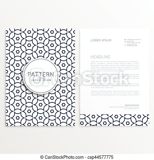 Stil Einfache Muster Firma Form Design Briefkopf