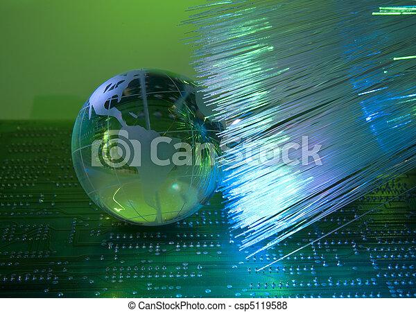 stil, faser, stromkreis, optisch, elektronisch, gegen, gedruckt, hintergrund, technologie, brett - csp5119588