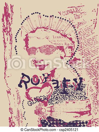 Vintage Rostfrau, Zeitungsposter - csp2405121