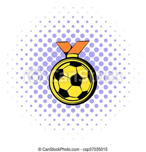 Stil Gold Comics Ikone Fussball Ehrennadel