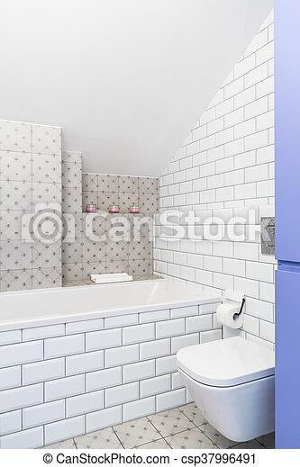 stil, industrie, badezimmer, idee