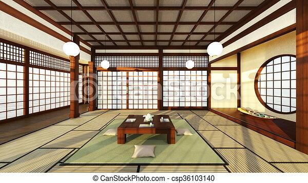 Stil japanisches zimmer stil cg japanisches bertragung rooms 3d - Japanisches zimmer ...