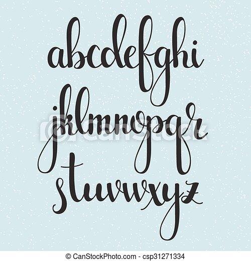Stil Kalligraphie Burste Handgeschrieben Dekorativ Reizend