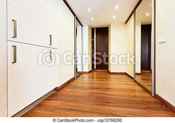 Stil Minimalismus Modern Inneneinrichtung Korridor Spiegel
