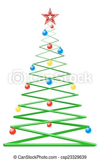 Moderner Weihnachtsbaum.Stil Modern Baum Weihnachten