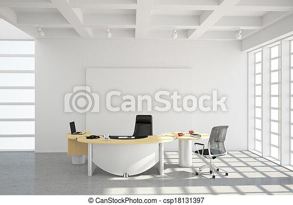 stil, modern, dachgeschoss, buero - csp18131397