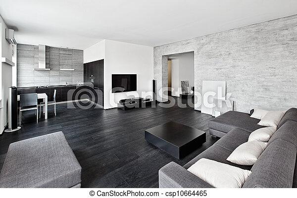 Stil modern minimalismus schwarz t ne for Inneneinrichtung modern