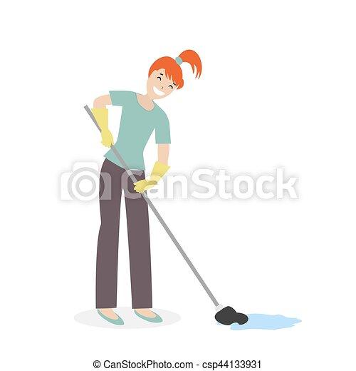 Kinder und Putzfrau beim Hausputz - Download Kostenlos Vector, Clipart  Graphics, Vektorgrafiken und Design Vorlagen