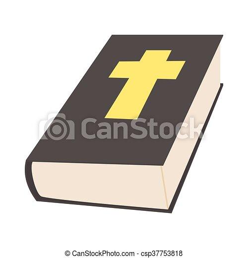 Stile bibbia libro icona cartone animato stile bibbia libro