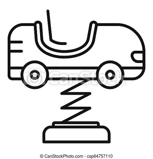 stile, contorno, primavera, automobile, icona, capretto - csp64757110