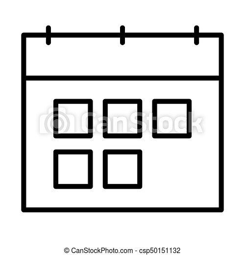 Simbolo Calendario.Stile Contorno Simbolo Linea Vettore Calendario Icon