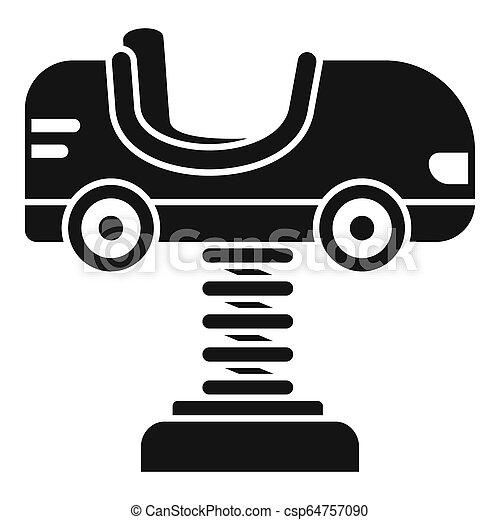 stile, semplice, primavera, automobile, icona, capretto - csp64757090