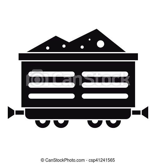 Stile Semplice Treno Carbone Icona Vagone Web Vettore Semplice Illustrazione Treno Carbone Icon Vagone Icona Canstock