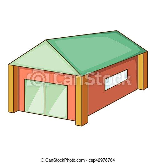 Stile tetto garage verde icona cartone animato web for Piani di caverna di garage uomo