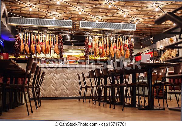 stilig, italiensk, restaurang - csp15717701