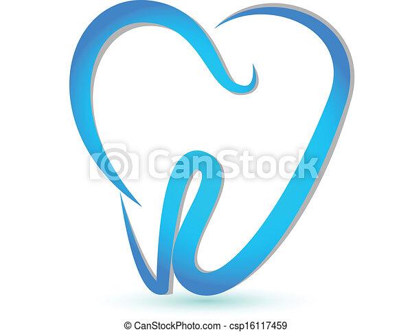 Vektor eines stylisierten Zahns - csp16117459