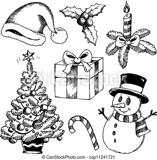 Disegni Di Natale Vettoriali.Disegni Di Natale Stilizzati