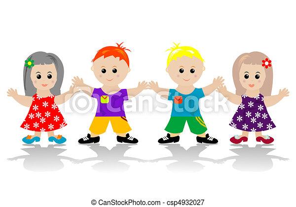 Stilizzato Bambini Felice