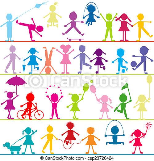 Stilizzato Bambini Fondo Gioco