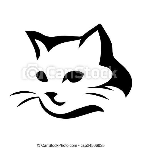 Stilizzato Gatto Icona Illustrazione Gatto Stilizzato Fondo