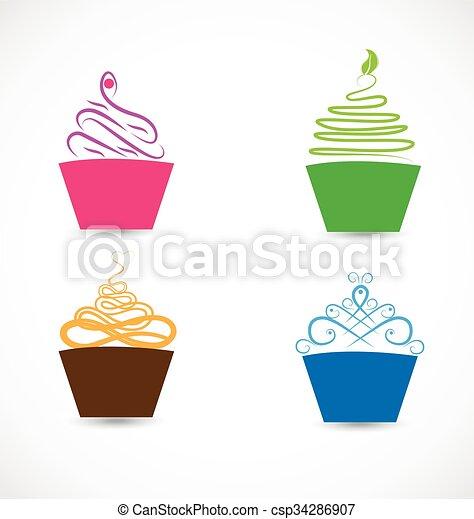 Stilizzato Logotipo Cupcakes