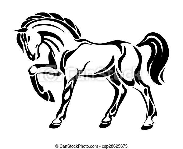 stilizzato tatuaggio cavallo disegno tatuaggio