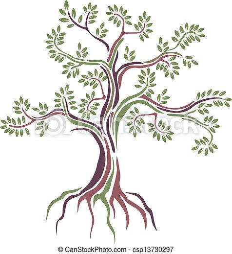 Stilizzato vettore albero bellezza stilizzato vettore for Albero ulivo vettoriale
