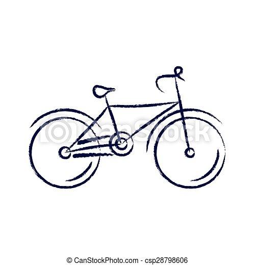 Stilizzato Vettore Bicicletta Illustrazione