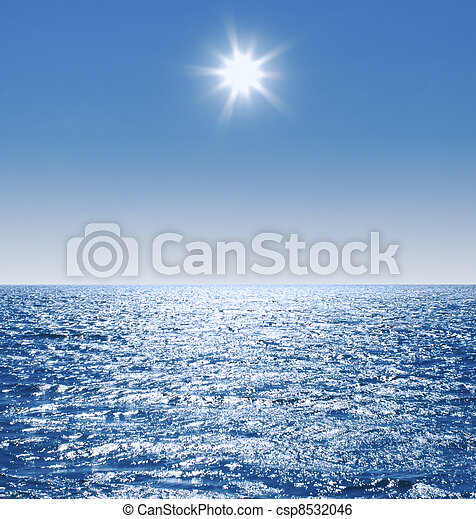 still calm sea water surface - csp8532046