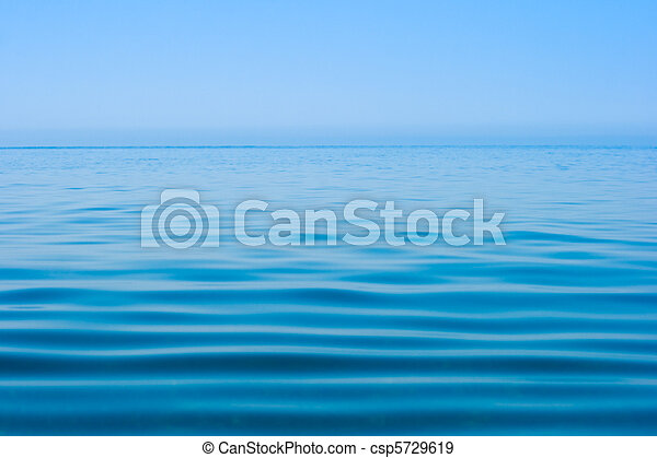 still calm sea water surface - csp5729619