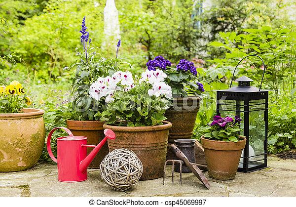 still life in a garden - csp45069997