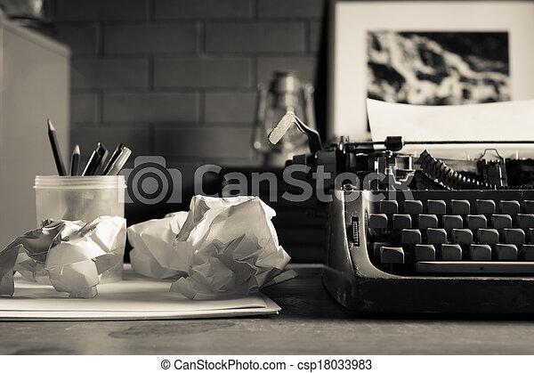 Still life of retro office - csp18033983