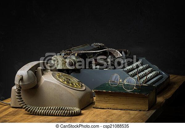 still life office - csp21088535