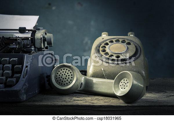 Still life telephone - csp18031965