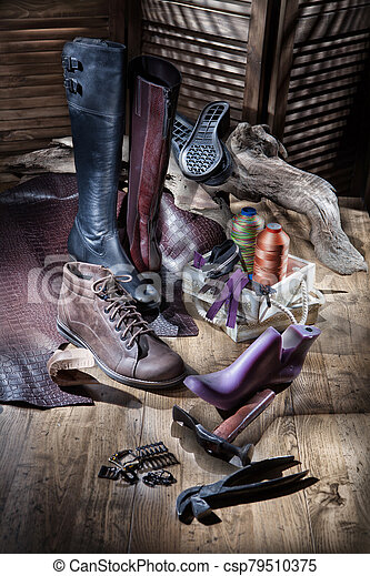 Still Life WIth Shoes - csp79510375