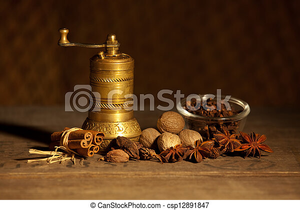 Still life with spice - csp12891847