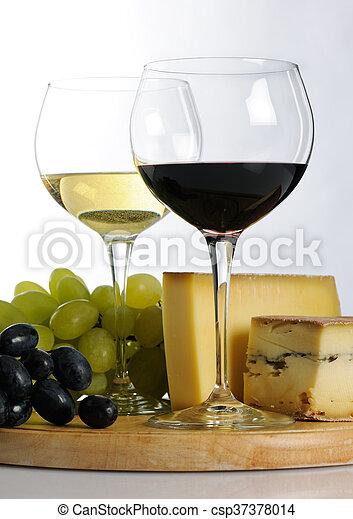 Still life with wine - csp37378014