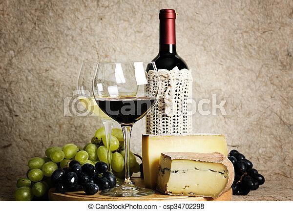 Still life with wine - csp34702298