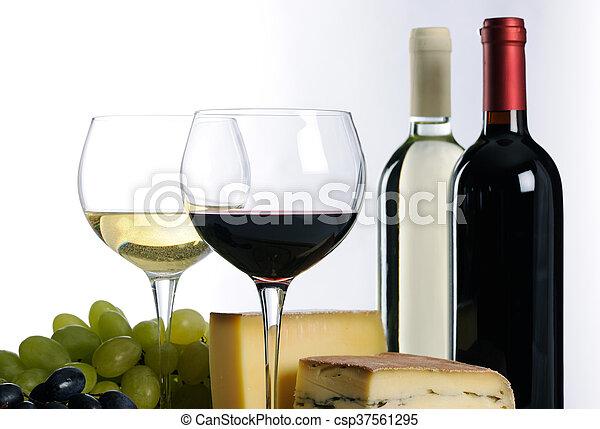 Still life with wine - csp37561295