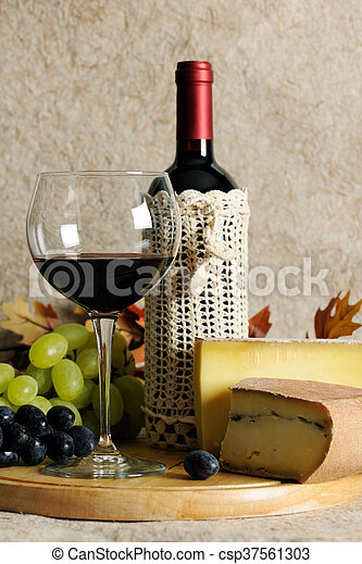 Still life with wine - csp37561303