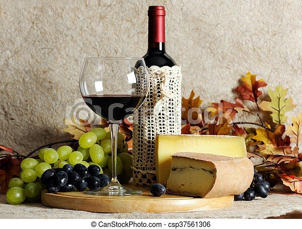 Still life with wine - csp37561306