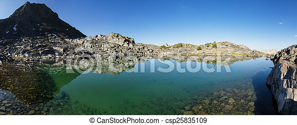 Still Mountain Lake - csp25835109