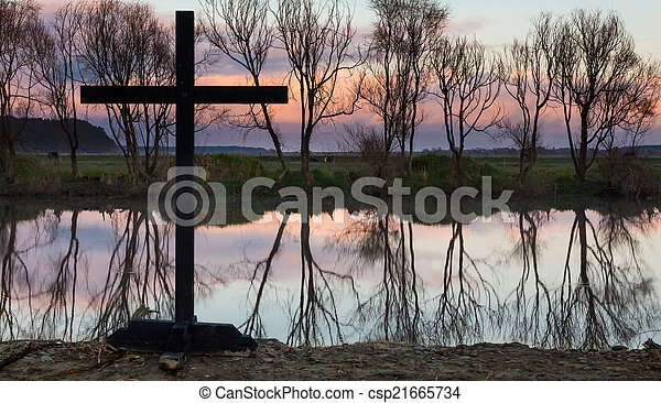 Still Waters Cross - csp21665734